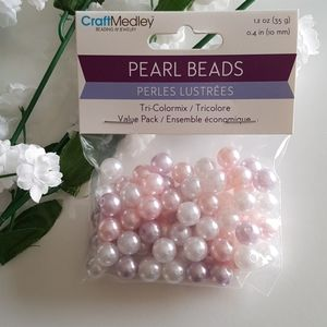 Pink Lilac White Glass Seed Beads, 1.2oz (…